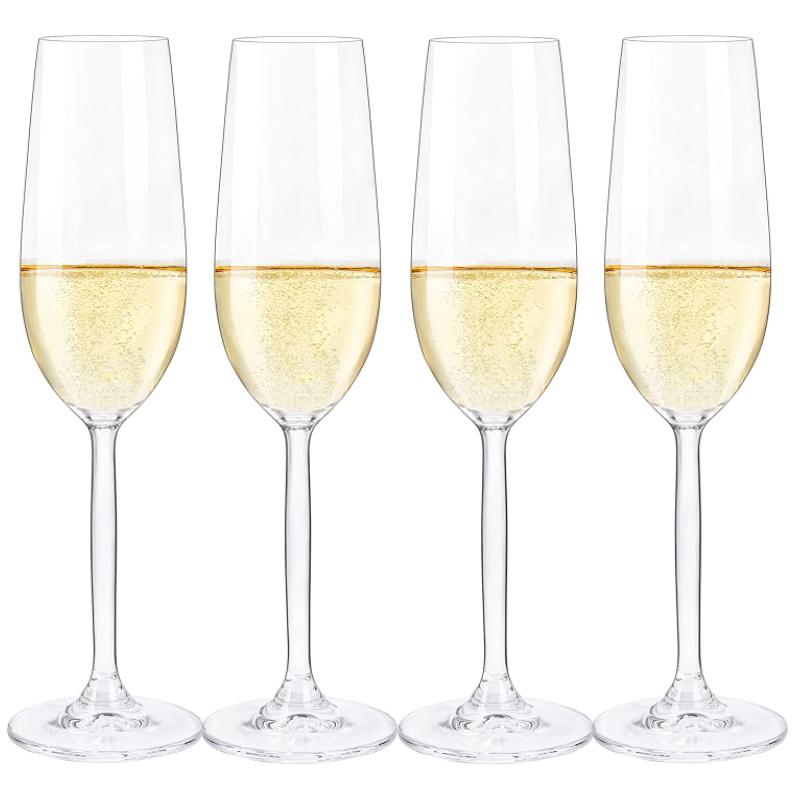 crystal champagne flutes set of 4